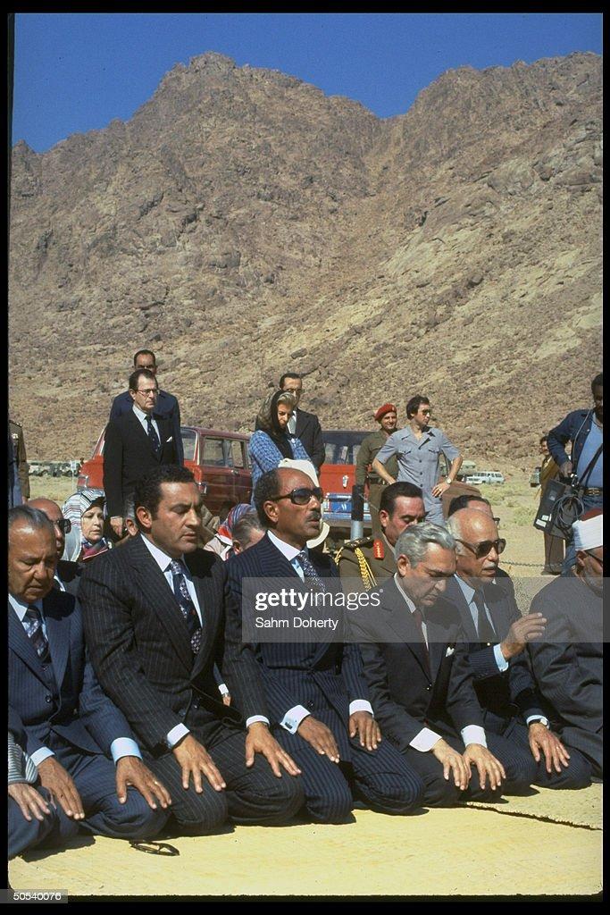 Anwar Sadat;Robert S. Strauss : News Photo