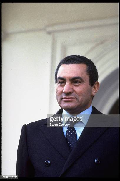 Egyptian Pres Hosni Mubarek during German visit