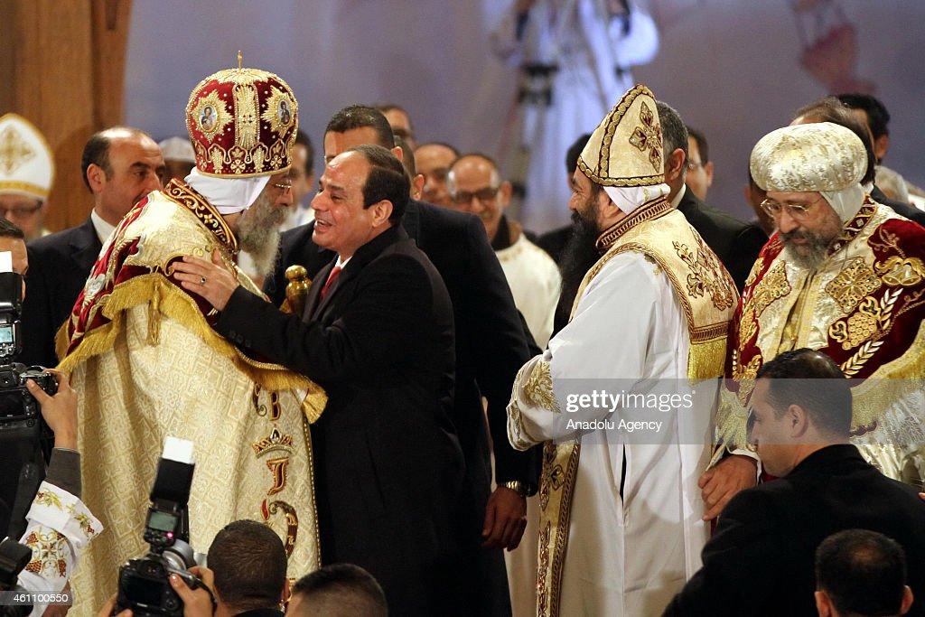 Christmas Eve mass in Cairo : News Photo