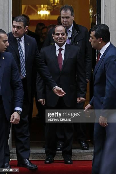 Egyptian President Abdel Fattah Al Sisi Leaves 10 Downing Street News Photo