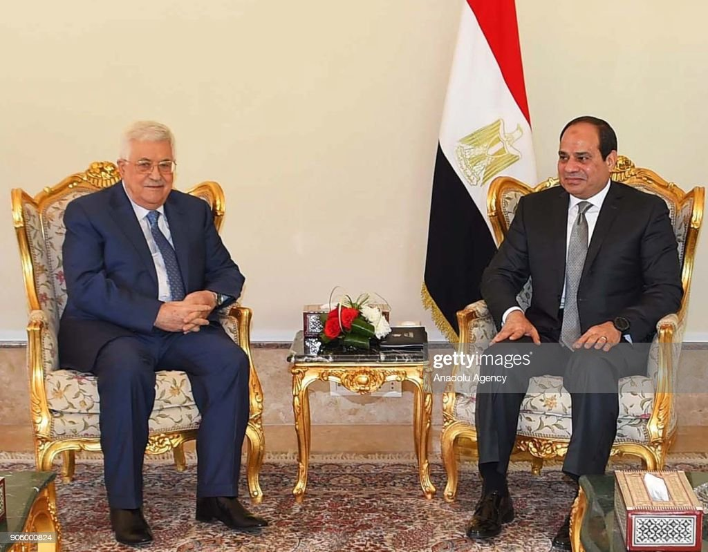 Palestinian President Mahmoud Abbas in Egypt : News Photo