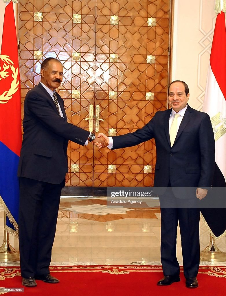 Eritrean President Isaias Afwerki visits Egypt : News Photo