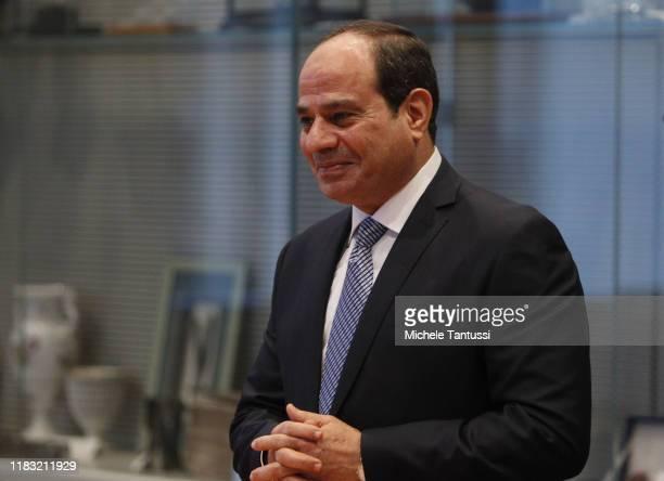 Egyptian President Abdel Fattah el-Sisi arrives at the Reichstag on November 18, 2019 in Berlin, Germany.