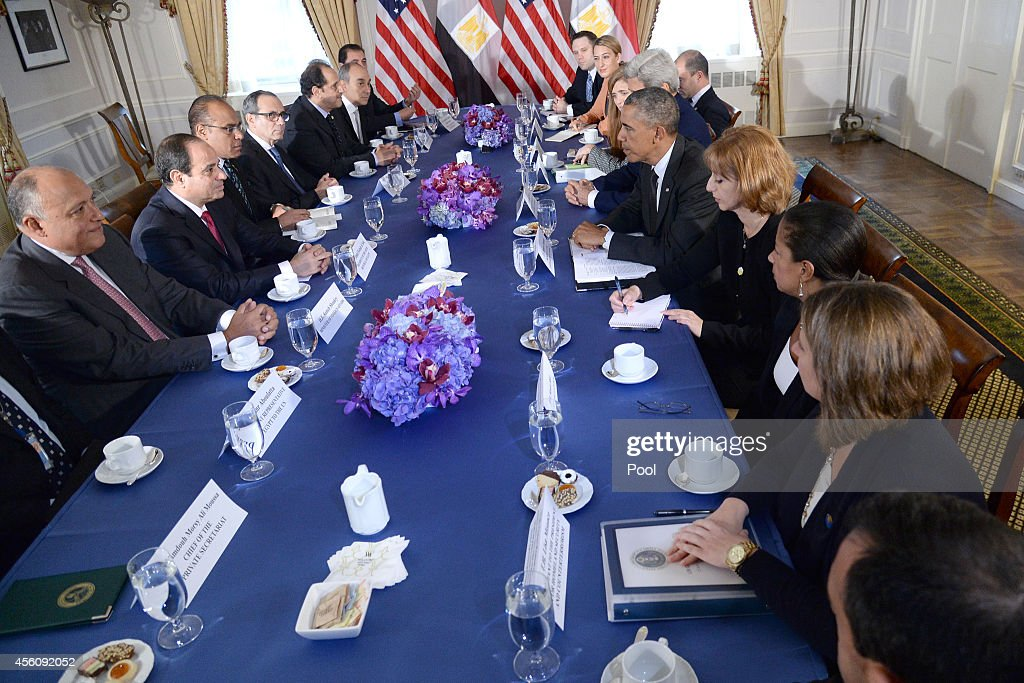 U.S. President Barack Obama Attends Bilateral Meeting With Egypt : News Photo