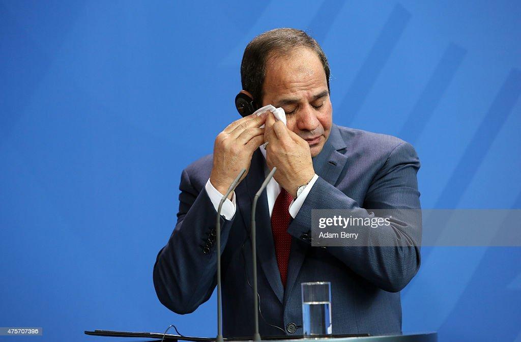 Egyptian President al-Sisi Visits Berlin : News Photo