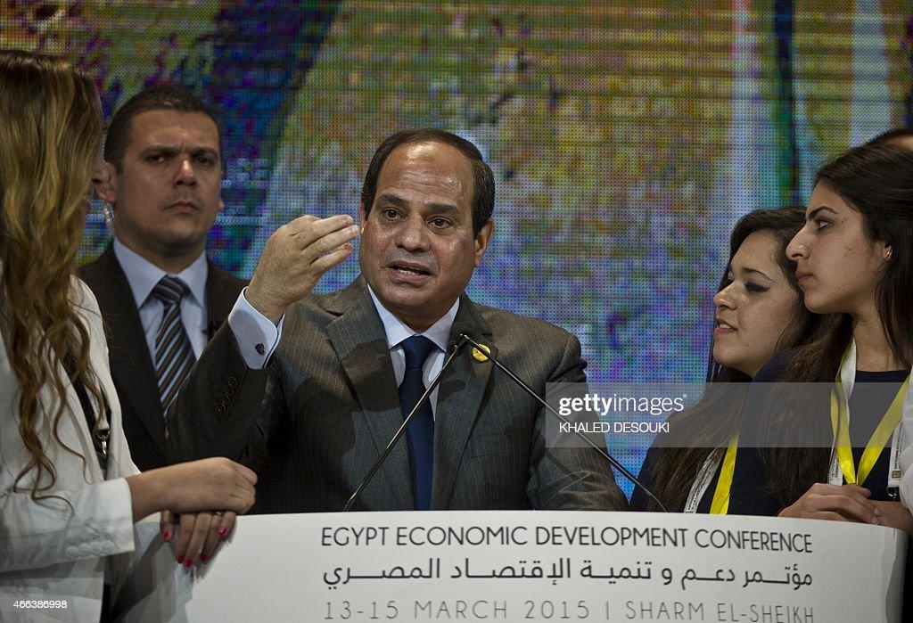 EGYPT-POLITICS-ECONOMY-CONFERENCE-SISI : News Photo