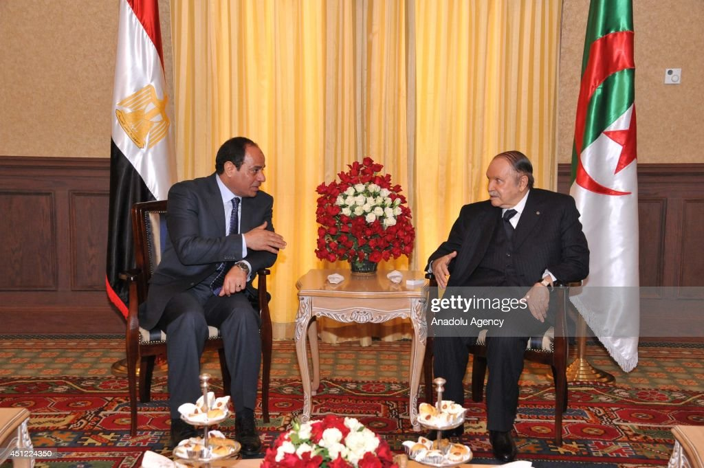 Egypt's Sisi arrives in Algiers on first state visit : News Photo