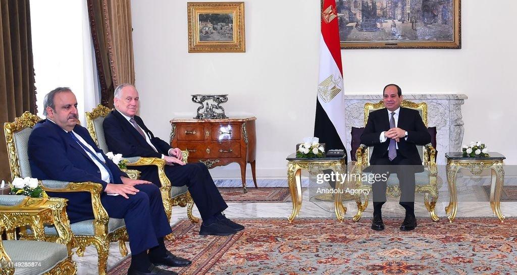 """הפרוייקטים הענקים של אל סיסי במצרים יביאו את מצרים להפוך למעצמה אזורית Made in Egypt,"""" Egyptian-president-abdelfattah-alsisi-meets-with-world-jewish-at-picture-id1149285874"""