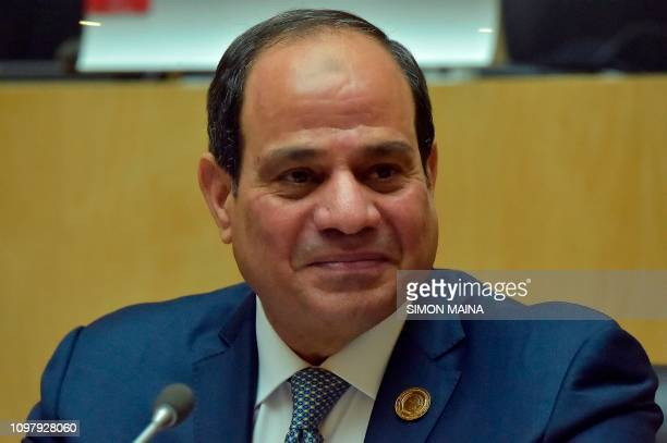 Egyptian President and new Chairman of African Union Abdel Fattah alSisi gives a press conference during the closure of the 32nd Ordinary Session of...