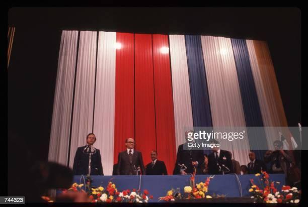 Egyptian President Anwar alSadat meets with Israeli President Menachem Begin November 21 1977 in Jerusalem Israel This meeting is the prelude to the...
