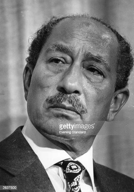Egyptian President Anwar alSadat winner of the Nobel Peace Prize in 1978