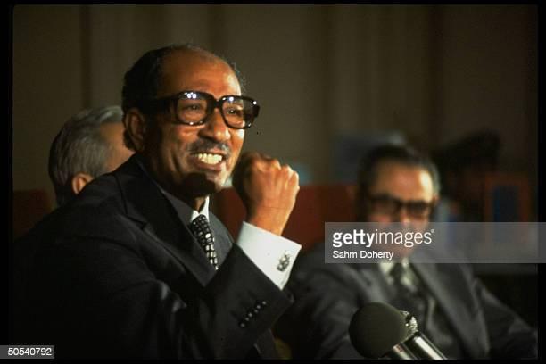 Egyptian President Anwar Sadat