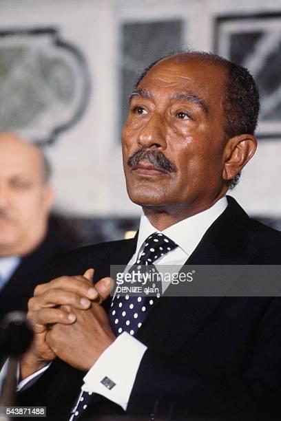 Egyptian President Anwar Sadat.