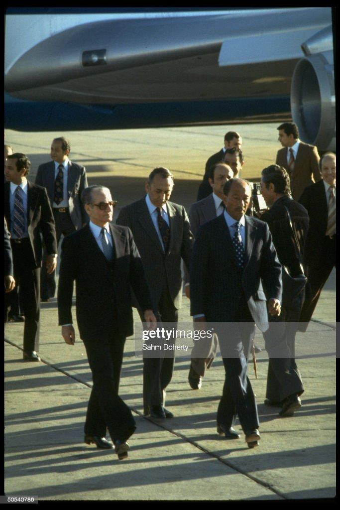Mohamed Reza [RF: Iran RF];Anwar Sadat : Fotografía de noticias