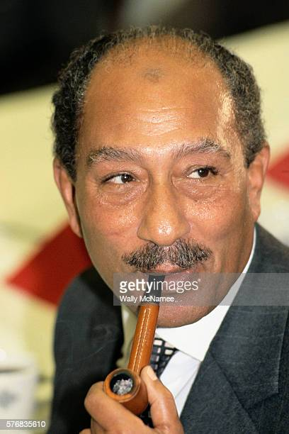 Egyptian President elSadat Meeting Foreign Affairs Committee