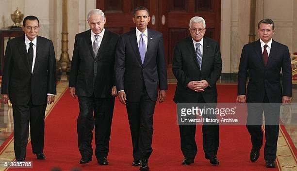 Egyptian President Hosni Mubarak Israeli Prime Minister Benjamin Netanyahu President Barack Obama Palestinian President Mahmoud Abbas and Jordan's...