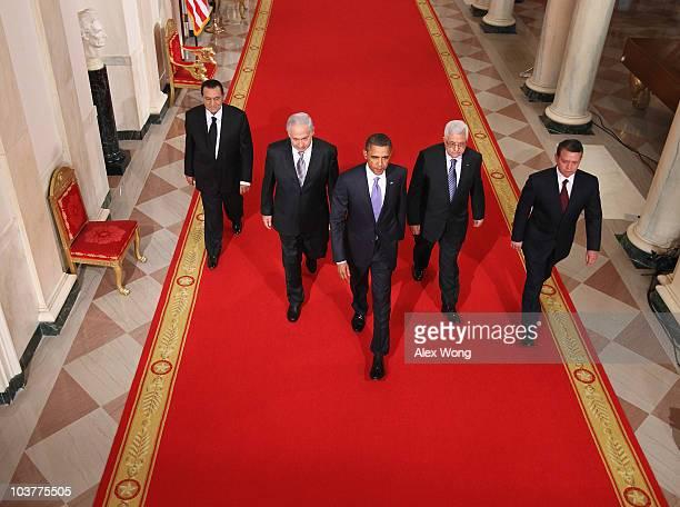 Egyptian President Hosni Mubarak Israeli Prime Minister Benjamin Netanyahu US President Barack Obama Palestinian Authority President Mahmoud Abbas...