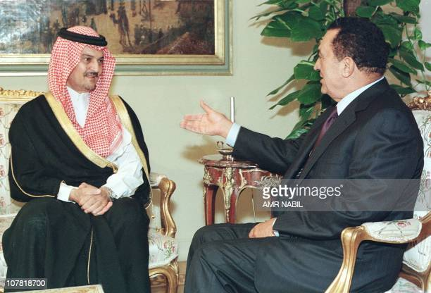 Egyptian President Hosni Mubarak meets 08 November in Cairo with Saudi Foreign Minister Prince Saud alFaisal for talks on the UN weapons inspections...
