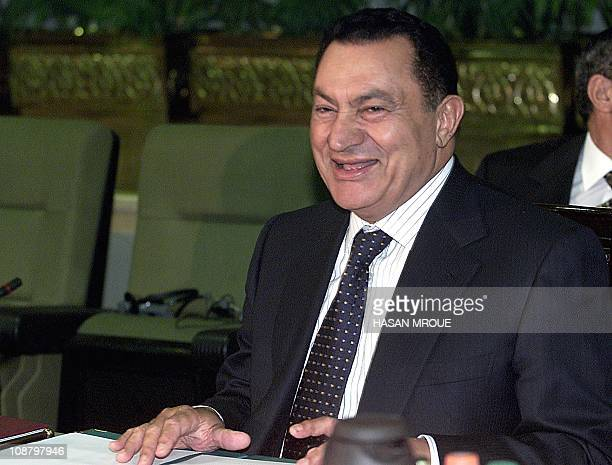 Egyptian President Hosni Mubarak smiles during the second day of the sixth summit of the 21member Common Market for Eastern and Southern Africa in...