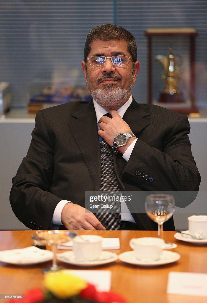 Egyptian President Mursi Visits Berlin : News Photo