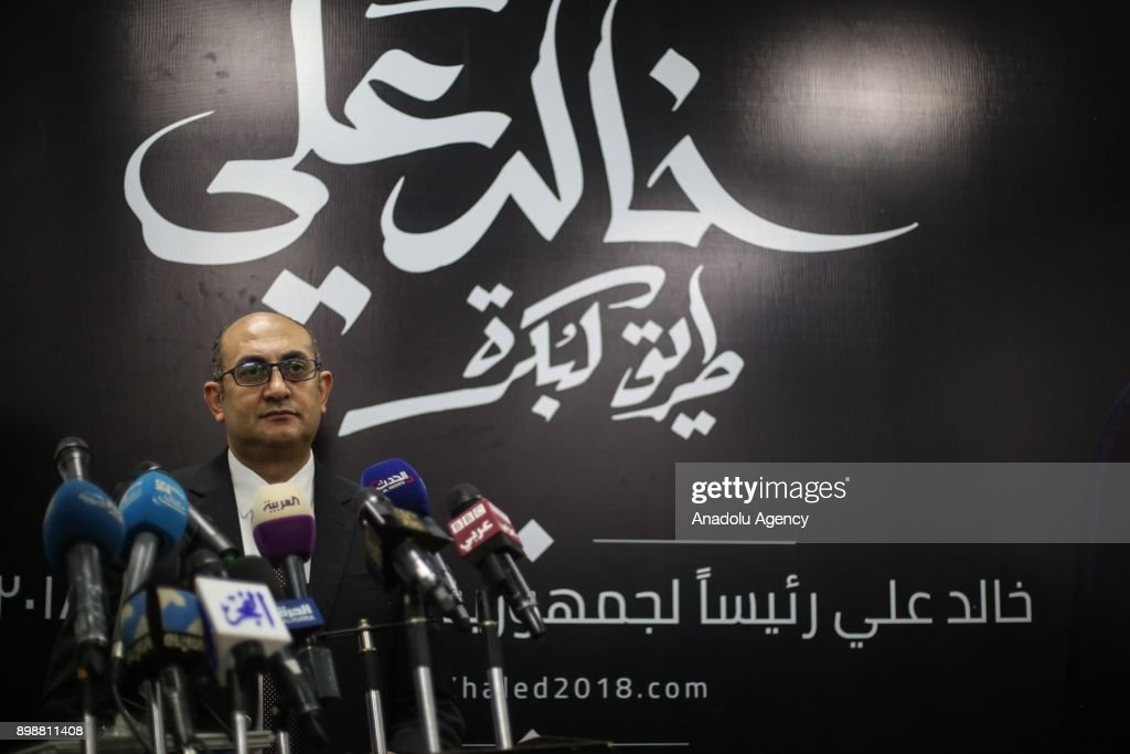 Egyptian presidential candidate Khaled Ali... : News Photo