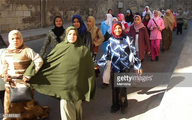 Egyptian schoolgirls