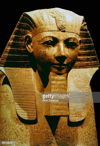 Egyptian sculpture of Queen Hatsheput This version shows her with a ceremonial beard 15th century BC