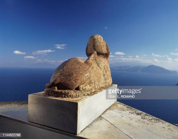 Egyptian sphinx Villa San Michele previously owned by Axel Munthe Anacapri Capri Campania Italy