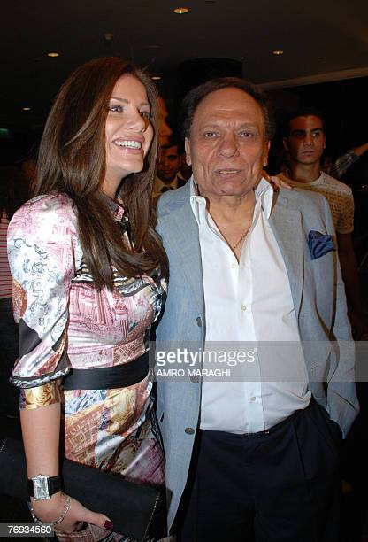 Egyptian Star Actor Adel Imam and Lebanese singer/actress Nicole Saba arrive for the premiere of 'Lailat alBaby Doll' Night' late 20 September 2007...