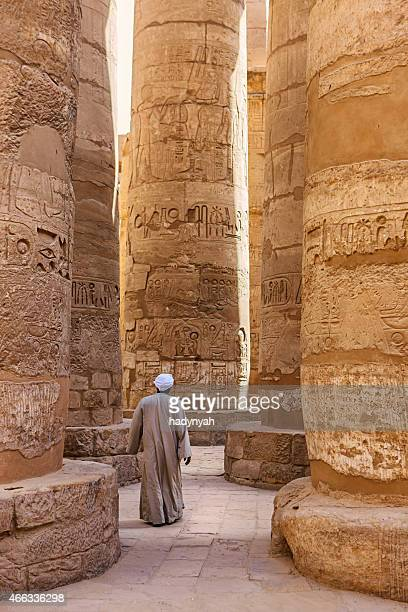 egyptian temple guard in karnak complex, luxor, egypt - egypt stock pictures, royalty-free photos & images