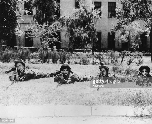 Egyptian university students undergo compulsory military training in the buildup to the Suez Crisis 21st August 1956