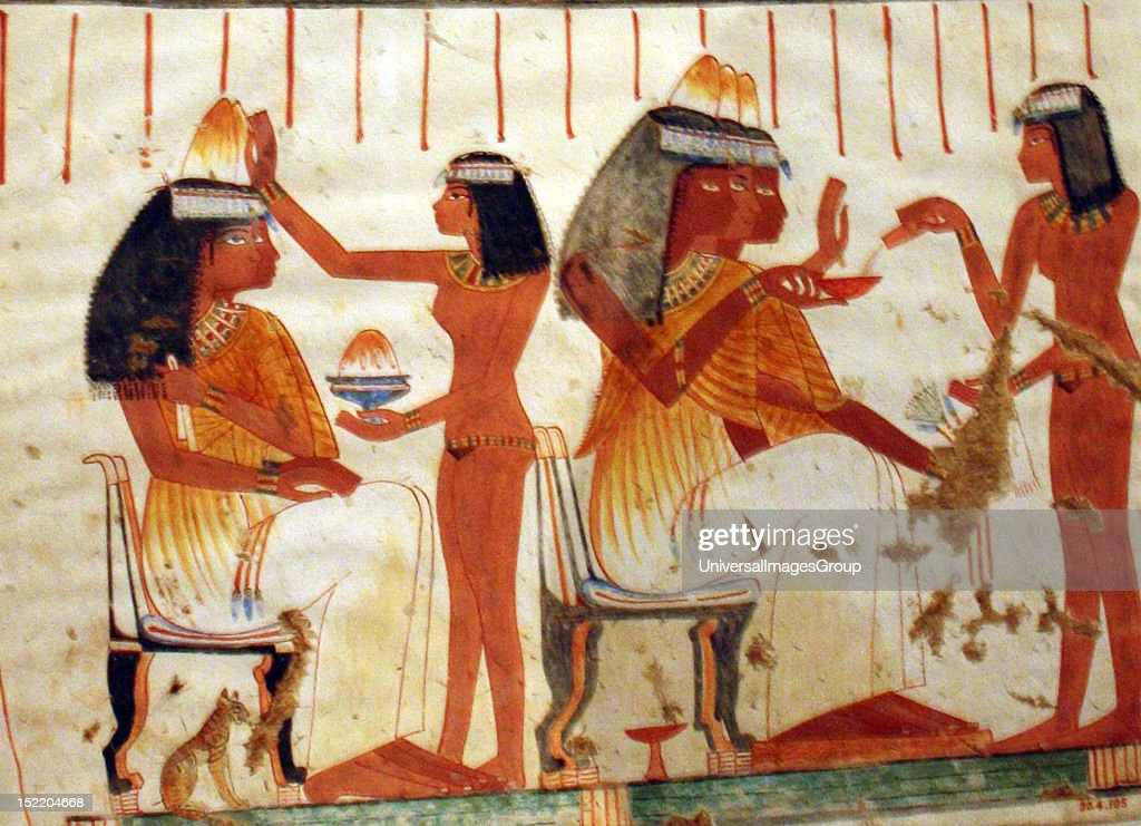 Egyptian Wall Paintings From The New Kingdom, Facsimiles Of Ancient Egyptian  Wall Decoration. They