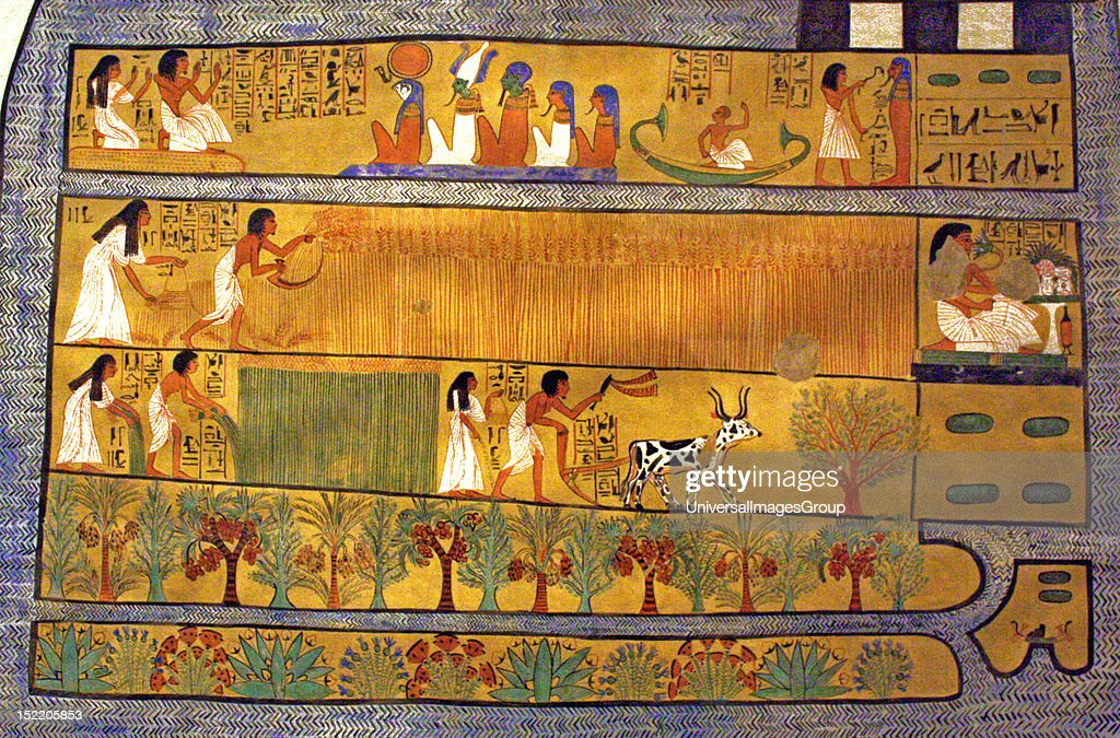Egyptian wall paintings from New Kingdom Pictures | Getty Images