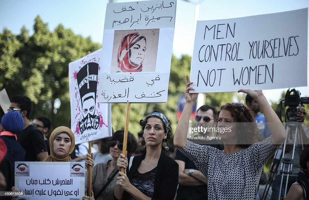 Protest against sexual harassment in Cairo : News Photo