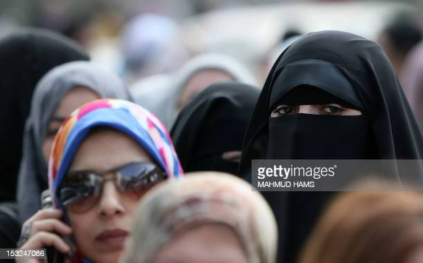 Egyptian women line up to vote at a polling station in the Manial neighbourhood of Cairo on November 28 2011 Postrevolution Egypt headed to the polls...