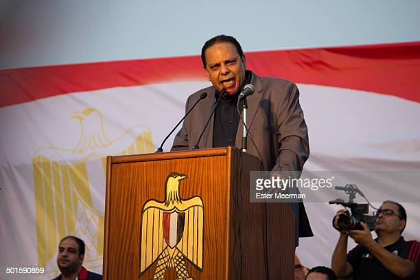 CONTENT] Egyptian writer Alaa al Aswany speaks at a rally to support Hamdeen Sabahi's bid to the Egyptian presidency in Abdeen square in downtown...