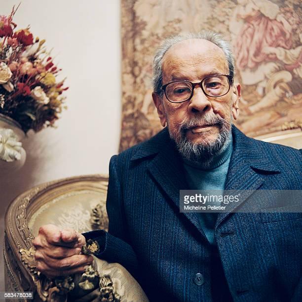 Egyptian writer Naguib Mahfouz winner of the 1988 literature Nobel Prize at home in Cairo