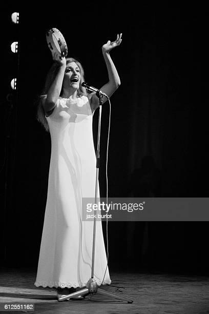 Egyptianborn French singer Dalida on stage