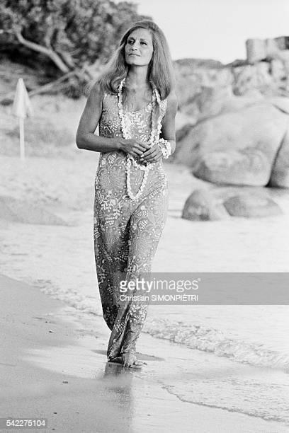 Egyptianborn Italian singer Dalida in Corsica