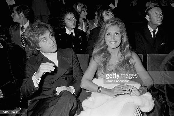 Egyptian-born singer Dalida and her brother Orlando in the audience of the Bulgarian-born French singer Sylvie Vartan's concert at the Olympia Hall...