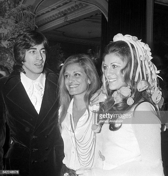 Egyptianborn singer Dalida attends the wedding of French singers Sheila whose real name is Annie Chancel and Ringo whose real name is Guy Bayle at...