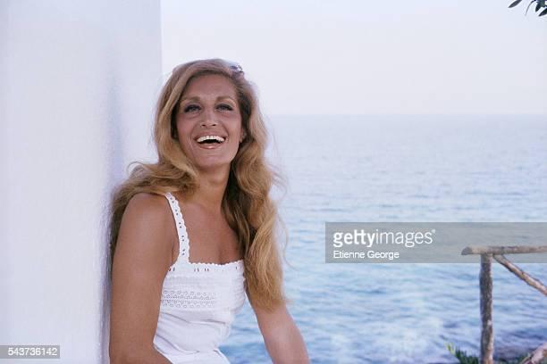 Egyptianborn singer Dalida on holiday in Crete