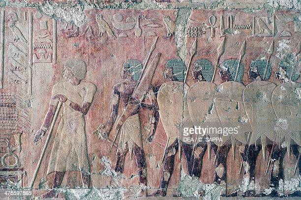 Egyptians being welcomed to Punt scenes of the Kingdom of Punt southern wall of the central colonnade Mortuary Temple of Hatshepsut Deir elBahari...