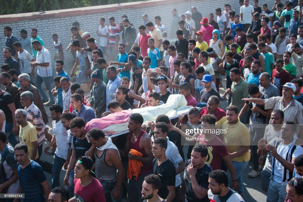 One died in clashes in al-Warraq Island in Egypt : News Photo