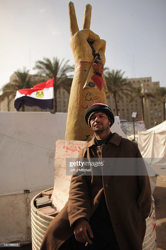 Egyptians continue to gather in Tahrir Square on January 26, 2012 in Cairo, Egypt. Tens of thousands of Egyptian people gathered yesterday to celebrate the anniversary of the start of the uprising which ended President Hosni Mubaraks rule.
