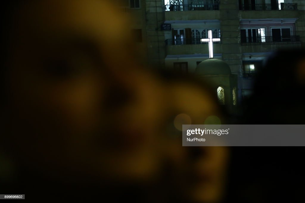 Egyptians gather at Mary Church during the funeral ceremony of the Mar Mina Church attacks victims in Helwan City, south of Cairo, Egypt on December 29, 2017. At least ten people were killed Friday when a terrorist attack on the Marminna church was foiled in Helwan, south of Cairo.
