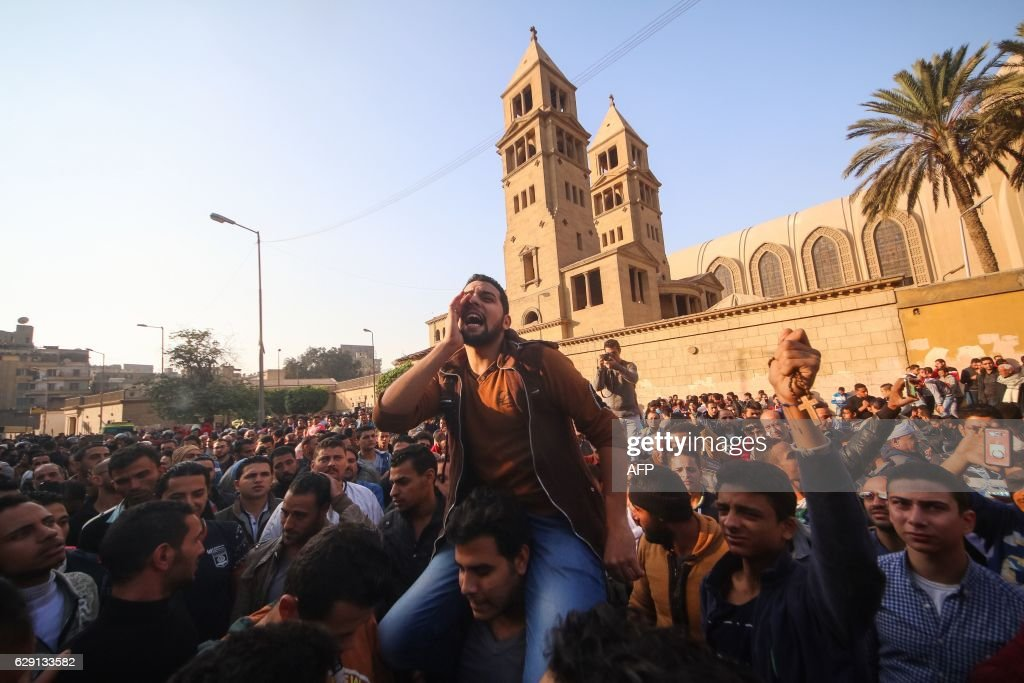 TOPSHOT-EGYPT-BOMB-UNREST-BLAST-RELIGION : News Photo