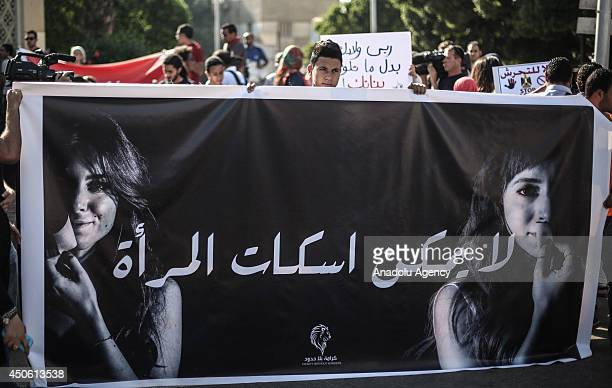 Egyptians take part in a protest against sexual harassment in Cairo Egypt on June 14 2014