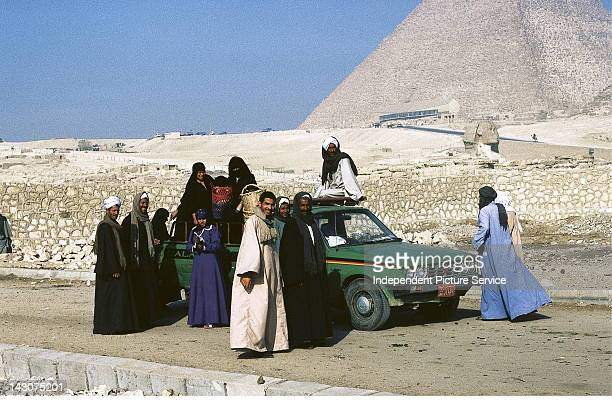 Egyptians with pickup truck Giza