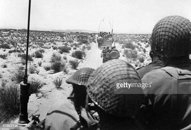 Israeli armored forces in action in this photo taken in June 1967 in the Sinai Desert Thirty years after the sixday war new revelations show that...